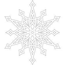 amazing simple snowflake coloring pages snowfla 1886