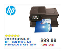 best printer deals on black friday hp photosmart 7525 wireless all in one printer deal at best buy