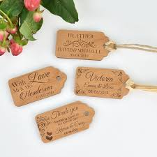 wedding gift tags engraved wooden wedding gift tags personalised favours