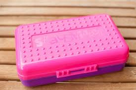 spacemaker pencil box vintage 90s spacemaker pencil box in pink and purple made in the