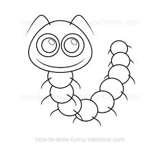 how to draw a caterpillar