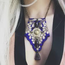 boho bib necklace images Boho purple indian textile necklace gypsy necklace bib necklace jpg