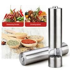 electric salt pepper mill grinder with light led light up electric coffee salt pepper mill grinder shaker pot