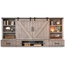 Barn Wood Entertainment Center Modern Mid Century Industrial Rustic Furniture U0026 Decor Woodwaves