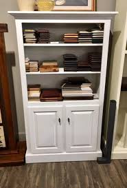 in stock white painted maple shaker bookcase with doors from