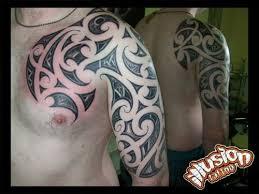maori tribal designs on chest and arm tattooshunt com