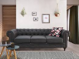 Grey Fabric Chesterfield Sofa by Tufted Fabric Sofa Gray Chesterfield