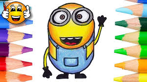 learn draw color minion emoji coloring draw