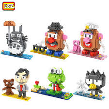 loz diamond blocks lot of 6 nano micro building blocks loz diamond blocks mr bean