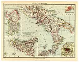 Map Of Italy And Sicily by 1907 Map Southern Italy Sardinia Sicily Tyrrhenian Sea Islands