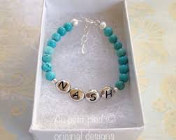 infant name bracelet baby name bracelet etsy