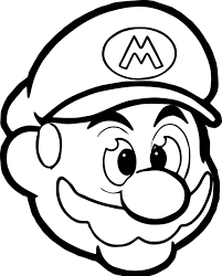 mario head icon coloring page wecoloringpage