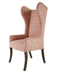 Damask Chair Pink Damask Wing Chair