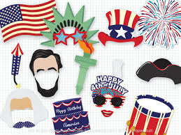 printable hippie photo booth props printable 4th of july photo booth props photobooth props july 4th