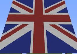 Great Britain Flag United Kingdom Flag Pixel Art Minecraft Project