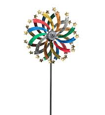 wind spinners with led lights over six feet tall this solar shooting star metal wind spinner with