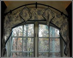 arched top window curtain rod curtains home design ideas