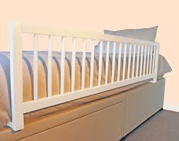 Wooden Bed Safetots Extra Wide Wooden Bed Rail White Amazon Co Uk Baby