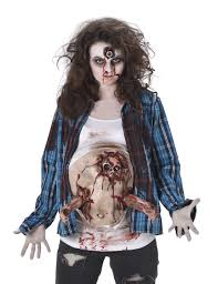 Zombie Costume With Zombie Foetus For Woman Vegaoo