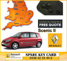 renault scenic 2005 replacement 3 button remote key card for renault scenic programming