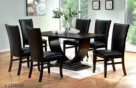 tall dining room table chairs black dining room table with red