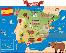 Map Of Seville Spain by Cartoon Map Of Spain Vector Art Getty Images
