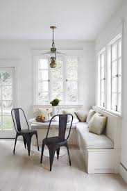 Kitchen Banquette White Kitchen Banquette Beige Cushions Black Dining Chairs Small