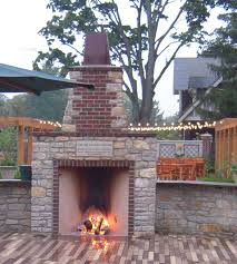 Backyard Fireplace Plans by Outdoor Rumford Gallery Superior Clay