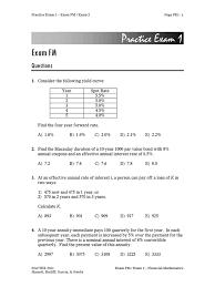 sample questions fm interest bond duration