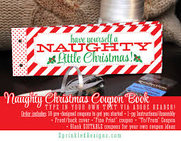 christmas gifts for him her naughty coupon book printable