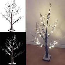 light up twig tree 70cm 2ft brown white pre lit table