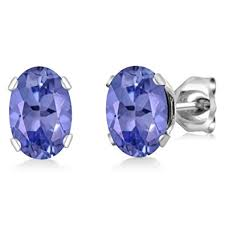 tanzanite stud earrings genuine tanzanite 925 sterling silver stud earrings