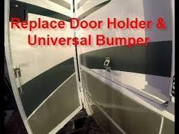 rv door glass replacing rv door holder u0026 universal bumper youtube