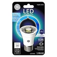 ge led floodlight bulb indoor par16 medium base 5 5 watt