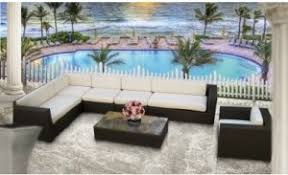 Outdoor Patio Furniture Sectional Modern Outdoor Patio Wicker Rattan Sofa Sectional 7 Pc