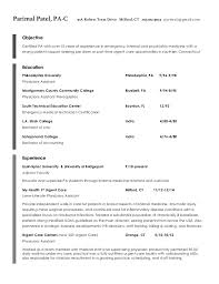 Physician Assistant Student Resume Pa Resume Coinfetti Co