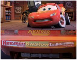 Cars Release Dan The Pixar Fan Cars Lightning Mcqueen With Bumper Stickers