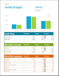 Family Budget Excel Template Family Budget Spreadsheet Template Word Excel Templates