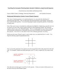 teaching the concept of solving basic genetic