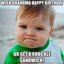 Grandma Internet Meme - grandma birthday meme mne vse pohuj