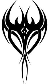 black ink tribal tattoo design clip art library