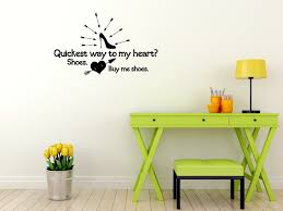 Shoe Home Decor Buy Me Shoes Wall Decal Saying For Bedroom Home Decor