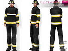 Fireman Costume Second Life Marketplace Full Perm Mesh Fireman Costume