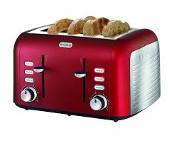 Brevelle Toaster Breville Opula 4 Slice Stainless Steel Toaster Candy Red Amazon