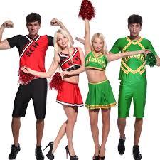 2 pieces sports event cheerleader costume crop top skirt