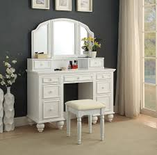 Makeup Bedroom Vanity 3 Pc Athy Collection White