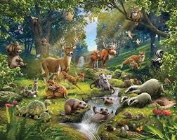 Mystical Forest Mural Nature Mural Animals Of The Forest Bedroom Mural 10ft X 8ft Walltastic