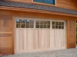 Garage Door Designs Exterior Unfinished Solid Wood Garage Door Design With Varnished