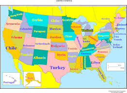 State Map Of United States by Map Compares Every State To A Country With Equal Education