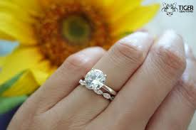 wedding sets on sale sale 2 carat deco solitaire wedding set made